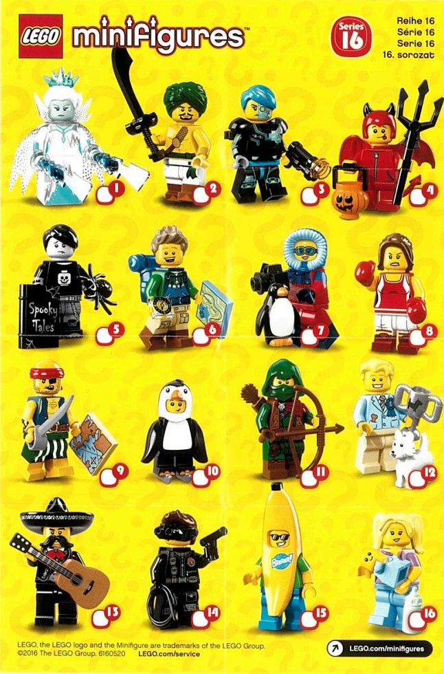 Lego Minifigures Series 16 Collector´s leaflet